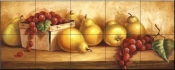 PTS-Pears and Grapes Panel I - Tile Mural
